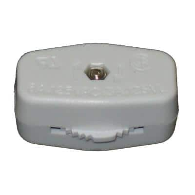 White 3A Feed-Through ON/OFF Lamp Switch