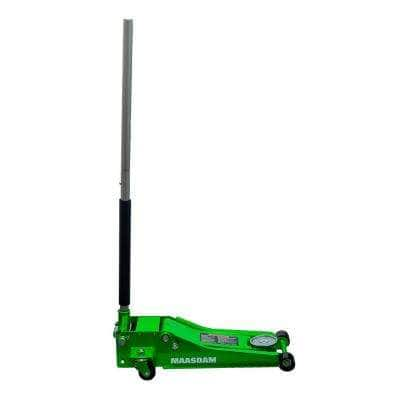 3-Ton Low Profile Floor Jack with Quick Lift in Green
