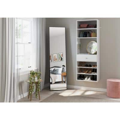 25.125 in. W White Accessory Wood Closet System Tower