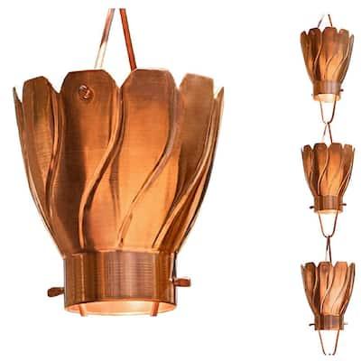 Monarch 8-1/2 ft. L Pure Copper Akira Rain Chain