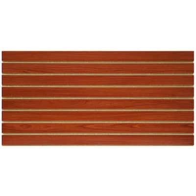 2 ft. x 4 ft. Cherry Slatwall Easy Panel (2-Piece per Box)