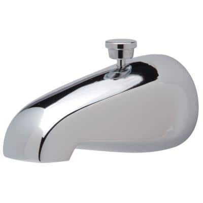 Temp-Gard Cast Brass Tub Spout with Pull-Up Diverter, Chrome
