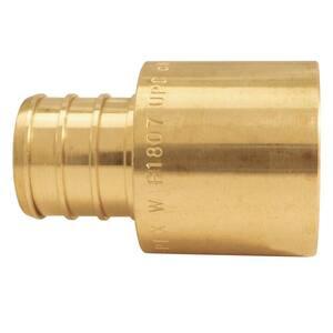3/4 in. Brass PEX Barb x 3/4 in. Female Copper Sweat Adapter Pro Pack (30-Pack)