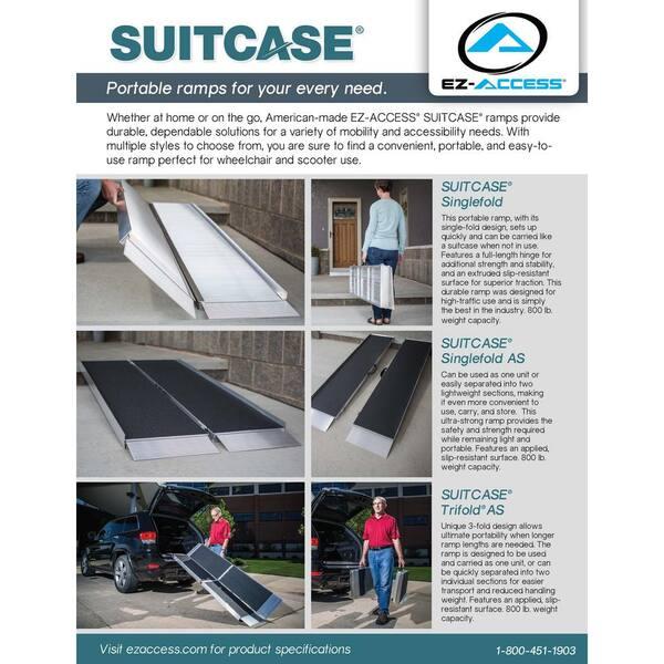Ez Access Suitcase 7 Ft Singlefold Portable Aluminum Ramp Suitcase Sf07 The Home Depot