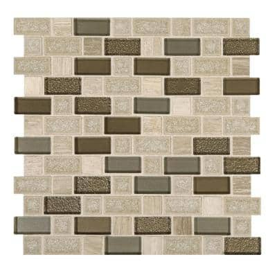 Developed by Nature Chenille 12 in. x 12 in. x 8 mm Stone, Glass and Ceramic Mosaic Tile (0.99 sq. ft./Each)