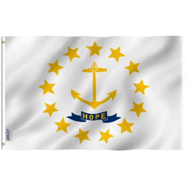 Anley Fly Breeze 3 Ft X 5 Ft Polyester Rhode Island State Flag 2 Sided Flags Banners With Brass Grommets And Canvas Header A Flag Staterhodeisland The Home Depot