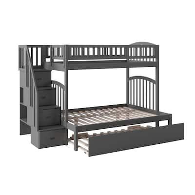 Trundle Bunk Beds Kids Bedroom Furniture The Home Depot