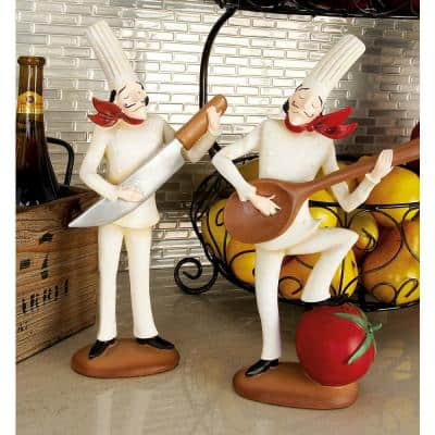 14 in. Polystone Musician Bistro Chef Decors (Set of 3)