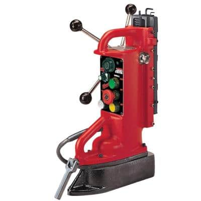 Electro-Magnetic Adjustable Position Drill Press Base with 11 in. Drill Travel