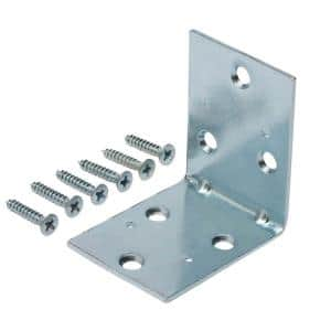 2-1/2 in. Zinc-Plated Double-Wide Corner Brace (8-Pack)