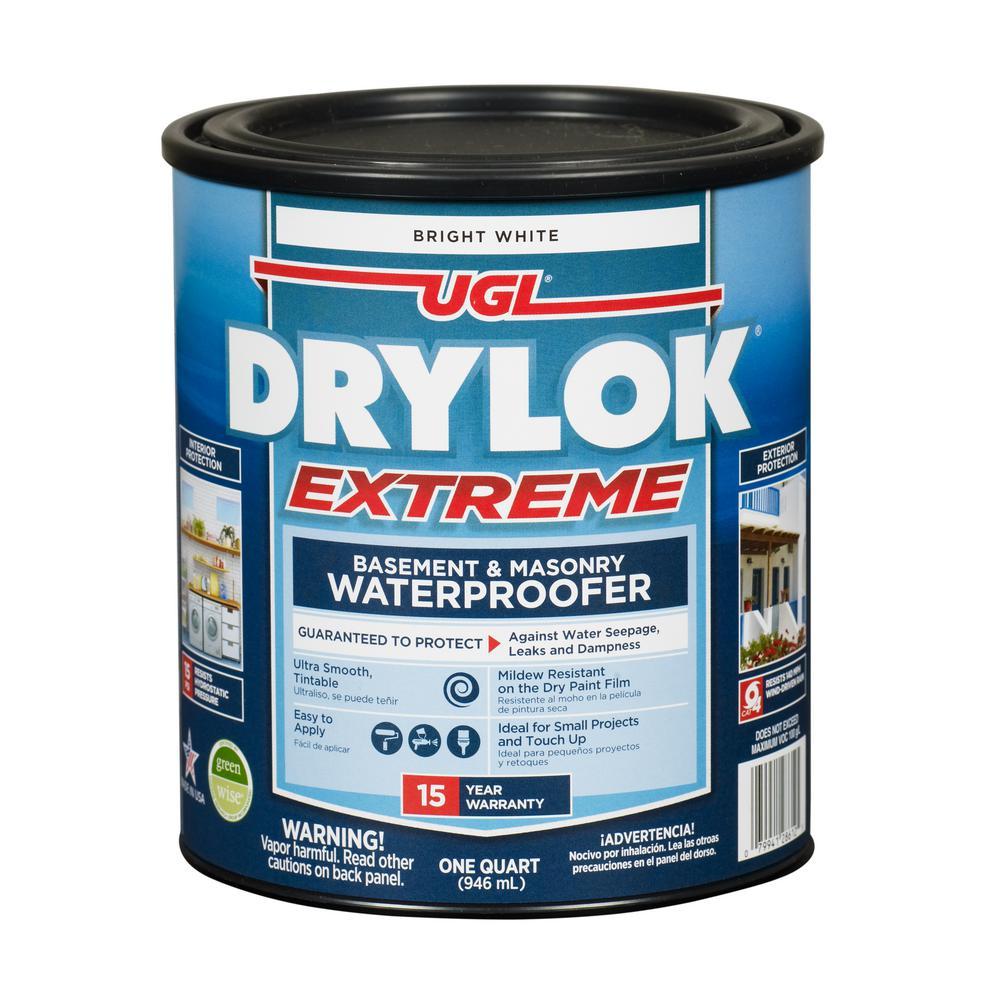 Extreme 1 qt. Bright White Flat Latex Interior/Exterior Basement and Masonry Waterproofer