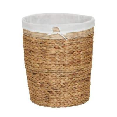 Natural Water Hyacinth Laundry Hamper with Liner