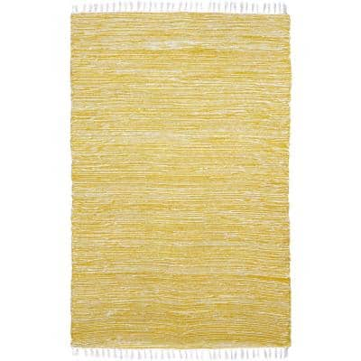 Yellow Chenille 9 ft. x 12 ft. Area Rug