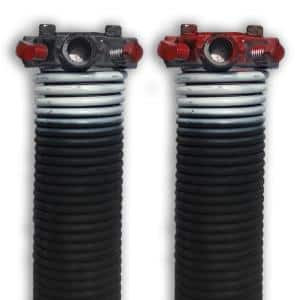 0.218 in. Wire x 1.75 in. D x 31 in. L Torsion Springs in White Left and Right Wound Pair for Sectional Garage Doors