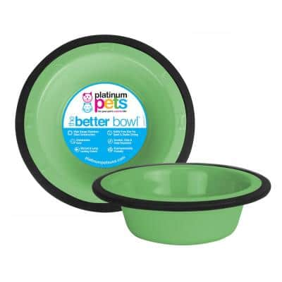 Switchin 10 cup Pets Stainless Steel Diner Feeder Replacement Bowl in Mint Green