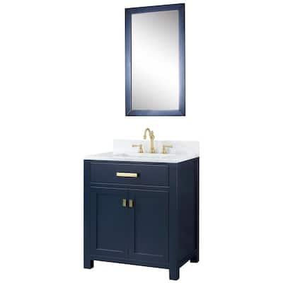 30 Inch Vanities Blue Marble Bathroom Vanities Bath The Home Depot