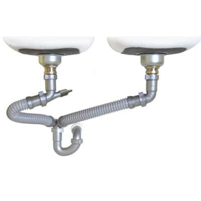 1-1/2 in. All-in-One Drain Kit for Double Bowl Kitchen Sinks