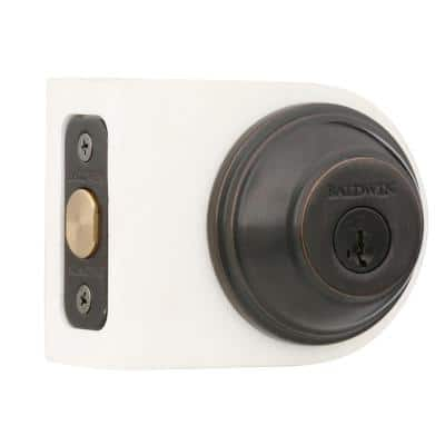Prestige Carnaby Venetian Bronze Exterior Entry Knob and Single Cylinder Deadbolt Combo Pack Featuring SmartKey Security