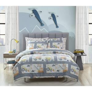 2-Piece Construction Land Twin Comforter Set