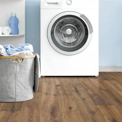 Biscayne Oak 7 mm T x 6.5 in. W x Varying Length Waterproof Engineered Click Hardwood Flooring (19.5 sq. ft./case)
