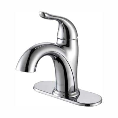 Arcus Single Hole Single-Handle Bathroom Faucet in Chrome