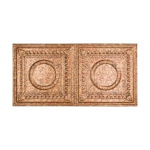 Rosette 2 ft. x 4 ft. Glue Up Vinyl Ceiling Tile in Cracked Copper (40 sq. ft.)