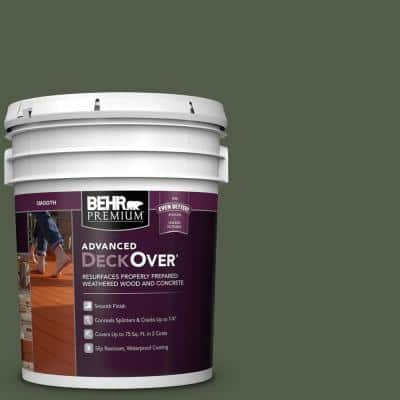 5 gal. #SC-120 Ponderosa Green Smooth Solid Color Exterior Wood and Concrete Coating