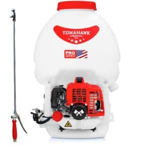 5 Gal. Gas Power Backpack Sprayer with Twin Tip Nozzle for Pesticide, Disinfectant and Fertilizer