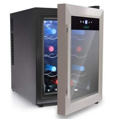12-Bottle Electric Wine Cooler - Wine Chilling Refrigerator Cellar with Digital Touchscreen Control, Stainless Steel