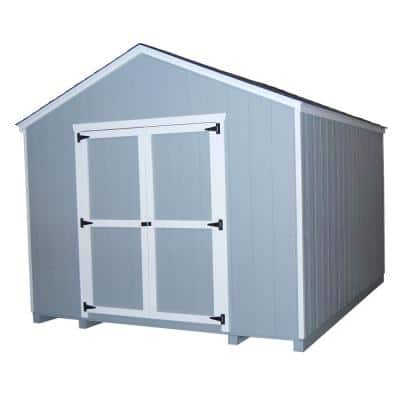 Value Gable 10 ft. x 10 ft. Wood Shed Precut Kit with Floor