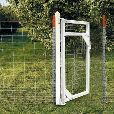 White Modular Vinyl Fence Gate Kit