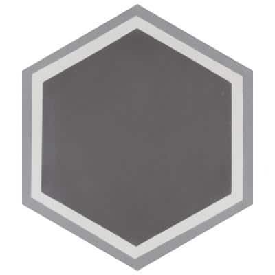 Cemento Hex Holland Strait Encaustic 8 in. x 9 in. Cement Handmade Floor and Wall Tile (5.07 sq. ft. / Case)