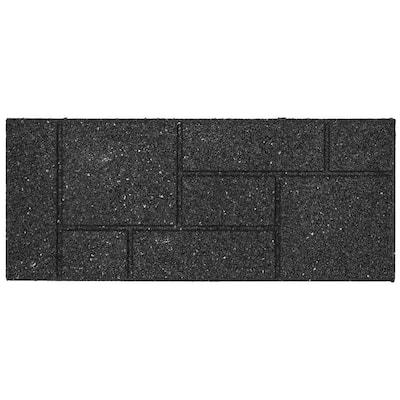 Envirotile 10 in. x 24 in. Rectangle Black Cobblestone Rubber Stair Tread
