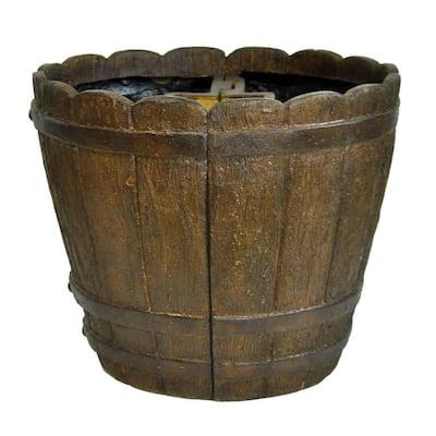18 in. Dia x 14.75 in. H Barrel Stone Mailbox Barrel
