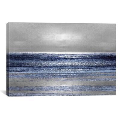 """""""Silver Seascape II"""" by Michelle Matthews Canvas Wall Art"""