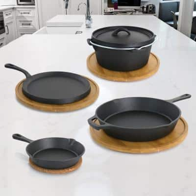 Pre-Seasoned 5-Piece Cast Iron Cookware Set