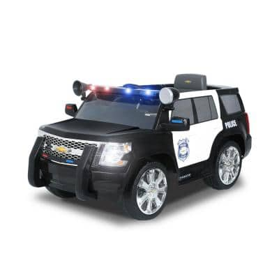Chevy Tahoe Police Cruiser 6-Volt Battery Ride-On Vehicle in Black