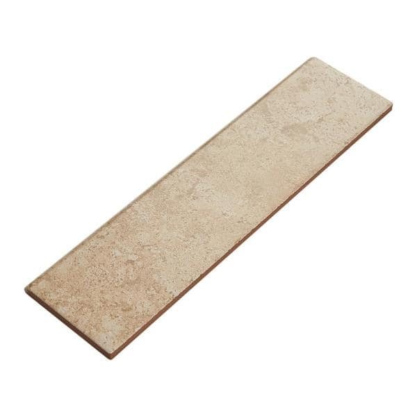 Daltile Stratford Place Alabaster Sands 3 In X 12 In Ceramic Bullnose Wall Tile 0 25702 Sq Ft Piece Sd91p43c91p2 The Home Depot
