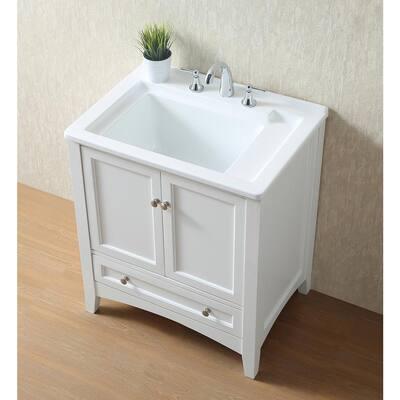 30.5 in. x 22 in. Acrylic Undermount Laundry/Utility Sink
