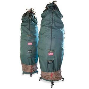 Medium Upright Tree Storage Bag with Rolling Tree Stand