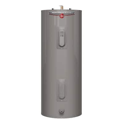 Performance Plus 40 Gal. Medium 9-Year 4500/4500-Watt Elements Electric Tank Water Heater with LED Indicator