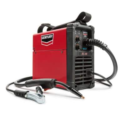 90 Amp FC90 Flux Core Wire Feed Welder and Gun, 120V