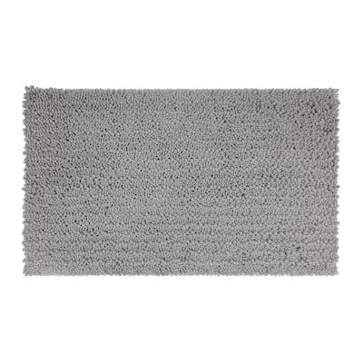 Metaphor Silver 27 in. x 45 in. Micro Denier Polyester Bath Mat