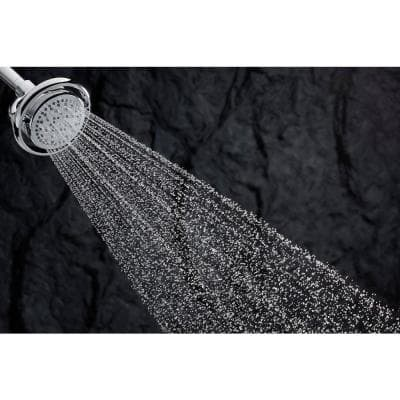 Flipside 4-Spray 5.4 in. Single Wall Mount Fixed Shower Head in Polished Chrome