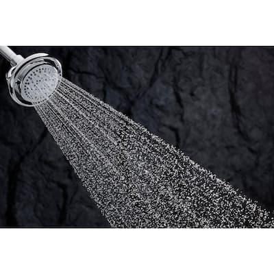 Flipside 4-Spray 5.4 in. Single Tub Deck Mount Handheld Rain Shower Head in Polished Chrome