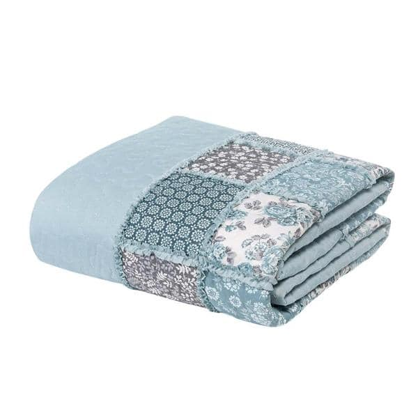 Morgan Home Mhf Home 2 Piece Giselle Floral Patchwork Twin Quilt Set M591808 The Home Depot