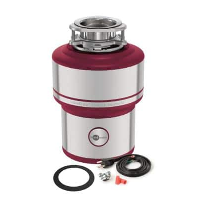 Evolution Supreme SS Stainless Steel 1 HP Continuous Feed Garbage Disposal with Easy Install Power Cord Kit Included