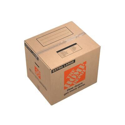 24 in. L x 20 in. W x 21 in. D Extra-Large Moving Box with Handles (50-Pack)