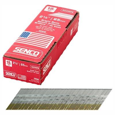 2-1/2 in. x 15-Gauge 3M Bright Steel Nail (3,000 per Box)