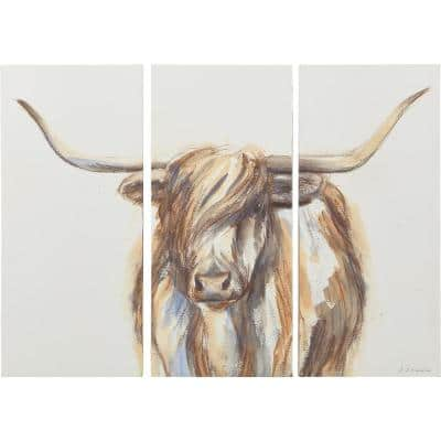 """""""Highland Cow"""" Canvas Set 27 in. x 36 in."""